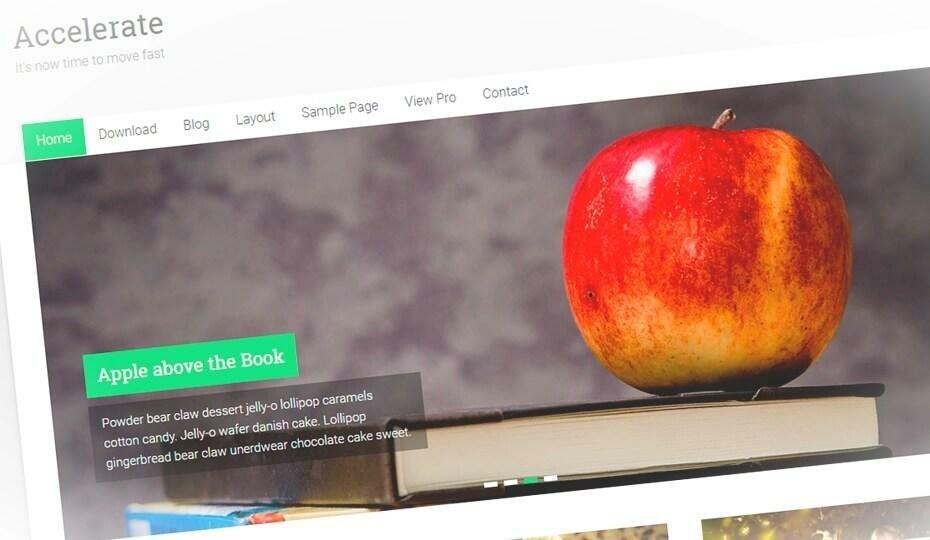 Accelerate - стильный и бесплатный шаблон для блога wordpress