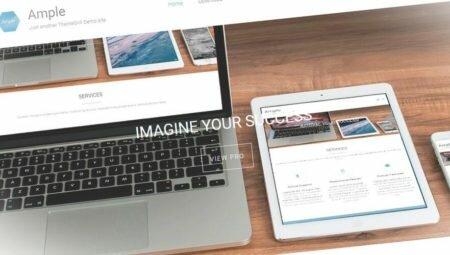 Ample - многоцелевой одностраничный шаблон WordPress