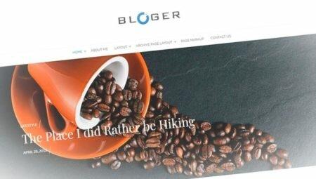 Bloger — ультрамодный шаблон для блога wordpress в стиле минимализм