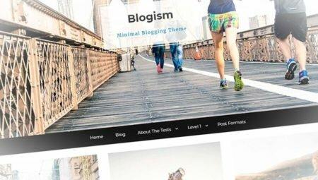 Blogism - современный в стиле минимализм шаблон сайта блога
