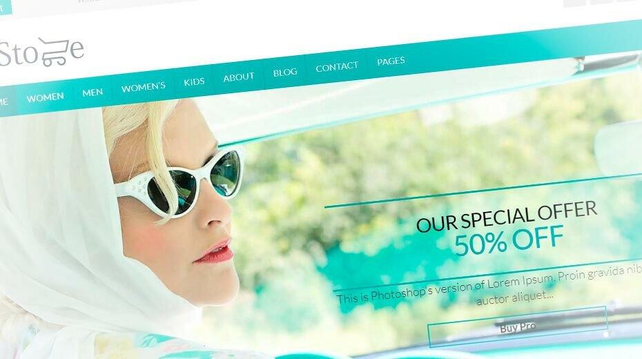Eightstore lite – красивейший шаблон интернет магазина WordPress