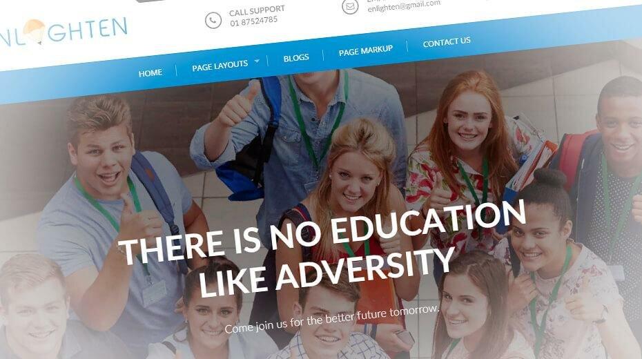Enlighten - стильный шаблон сайта образовательной организации
