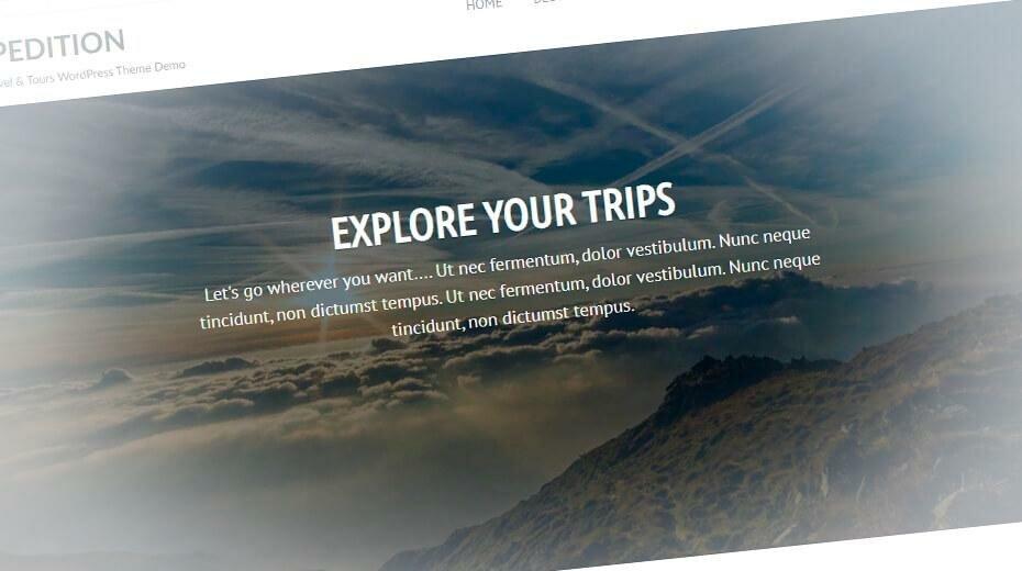 Expedition - стильный шаблон туристического сайта WordPress